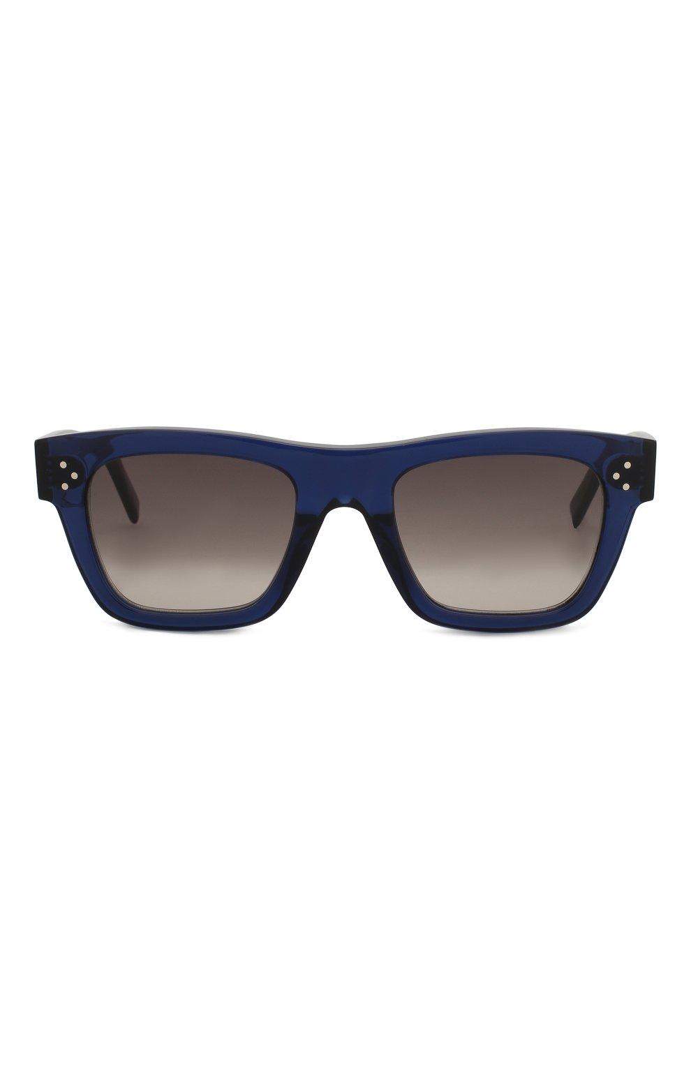 Женские солнцезащитные очки CELINE EYEWEAR синего цвета, арт. CL40009I 90F | Фото 3