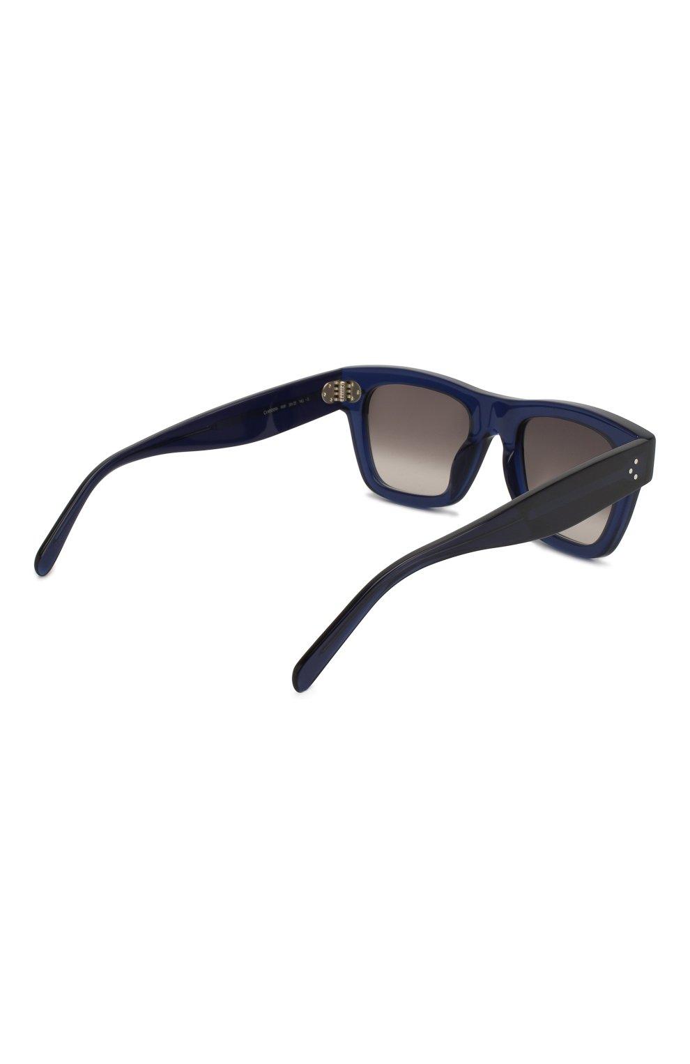 Женские солнцезащитные очки CELINE EYEWEAR синего цвета, арт. CL40009I 90F | Фото 4