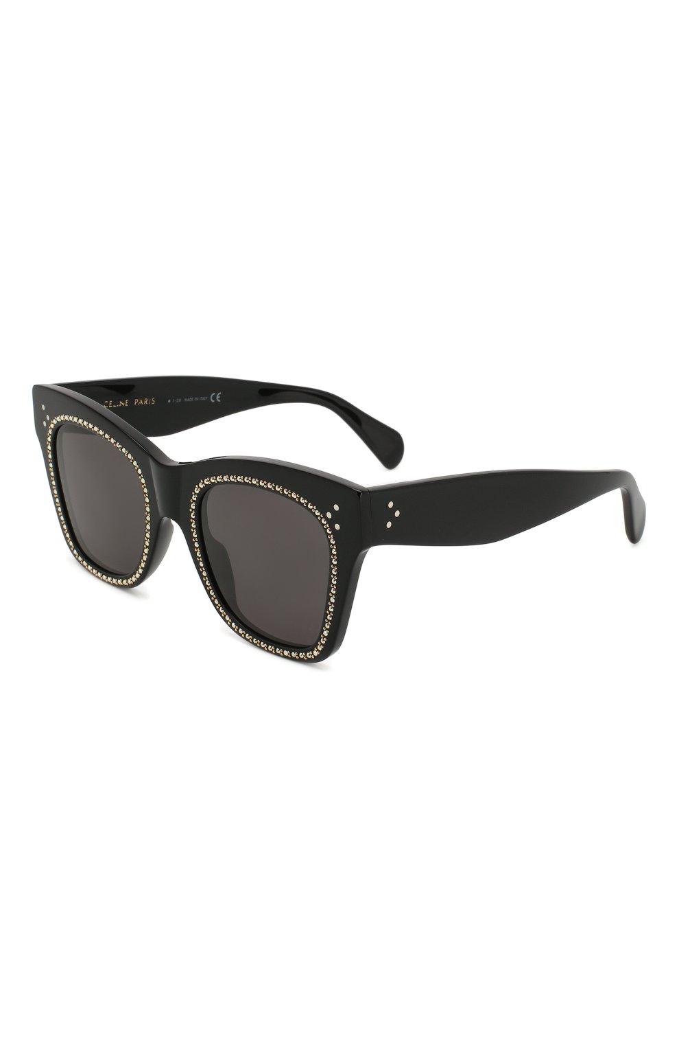 Женские солнцезащитные очки CELINE EYEWEAR черного цвета, арт. CL4004IS 01A   Фото 1