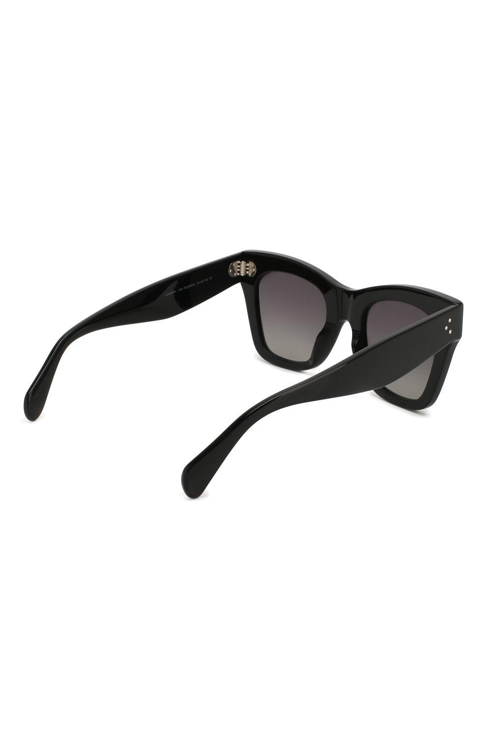 Женские солнцезащитные очки CELINE EYEWEAR черного цвета, арт. CL4004IS 01A   Фото 4