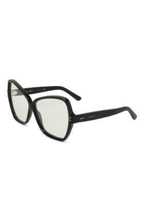 Солнцезащитные очки Celine Eyewear черные | Фото №1