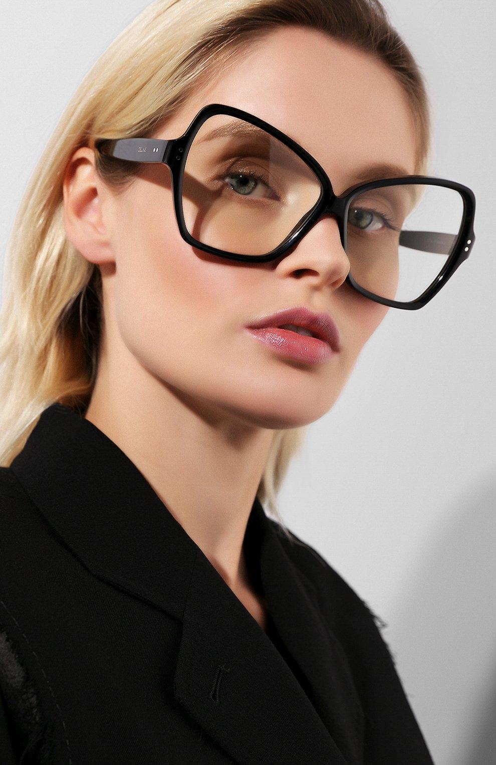 Солнцезащитные очки Celine Eyewear черные | Фото №2