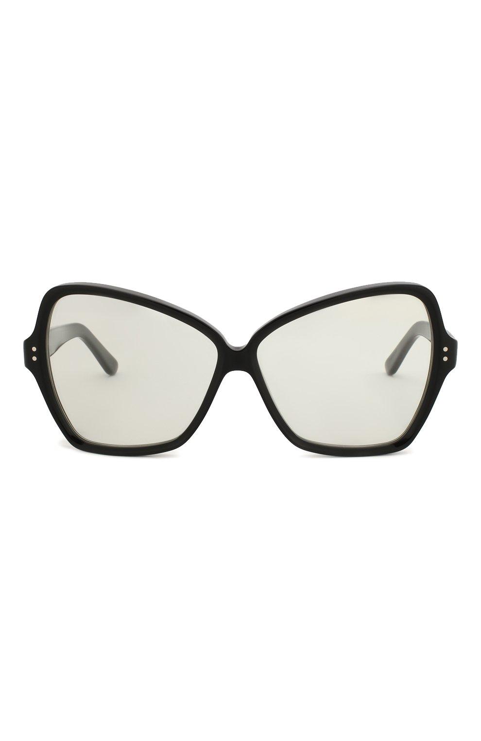 Солнцезащитные очки Celine Eyewear черные | Фото №3