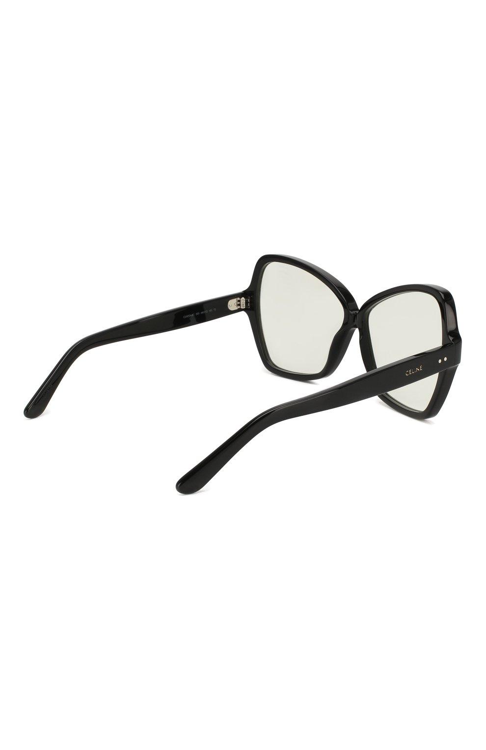 Солнцезащитные очки Celine Eyewear черные | Фото №4