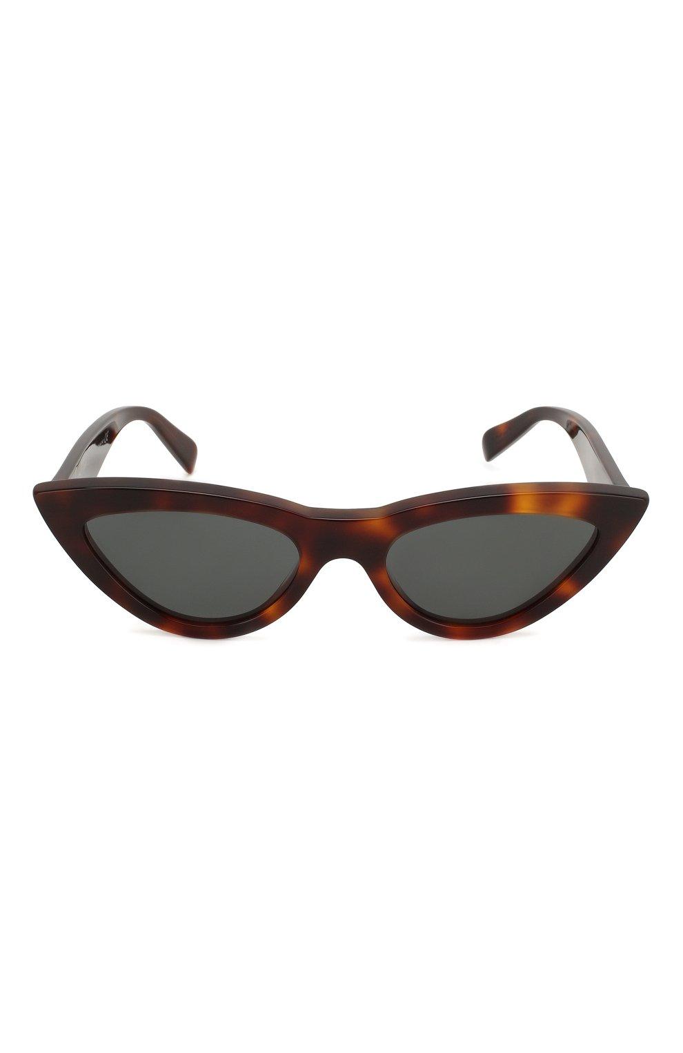Женские солнцезащитные очки CELINE EYEWEAR коричневого цвета, арт. CL4019IN 53N   Фото 3