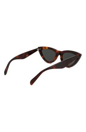 Женские солнцезащитные очки CELINE EYEWEAR коричневого цвета, арт. CL4019IN 53N   Фото 4