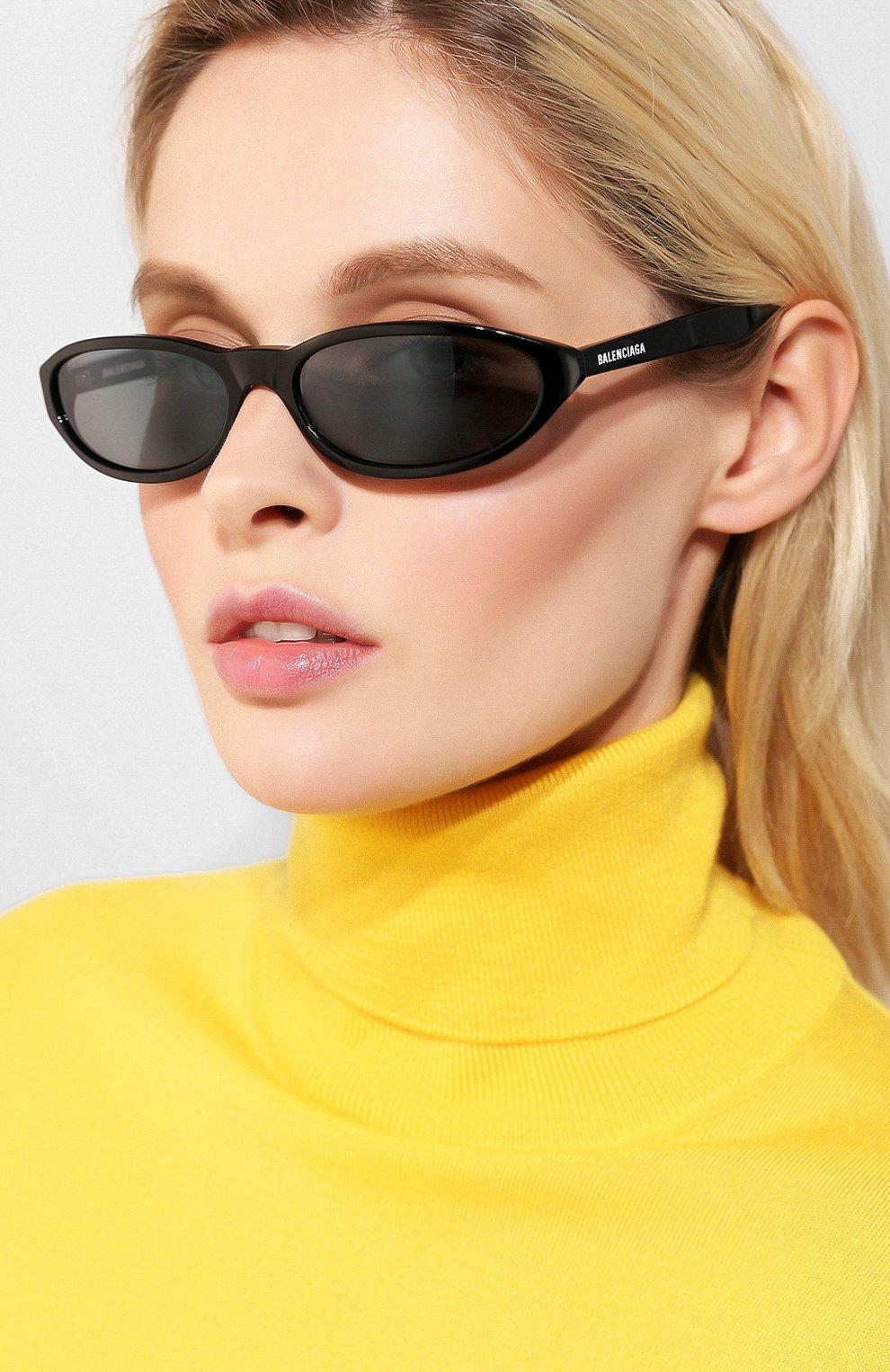 Женские солнцезащитные очки BALENCIAGA черного цвета, арт. BB0007 001 | Фото 2