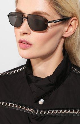 Солнцезащитные очки Balenciaga черные | Фото №2