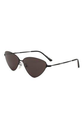 Мужские солнцезащитные очки BALENCIAGA черного цвета, арт. BB0015 001 | Фото 1