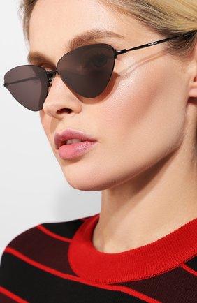 Мужские солнцезащитные очки BALENCIAGA черного цвета, арт. BB0015 001 | Фото 2