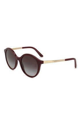 Мужские солнцезащитные очки DOLCE & GABBANA бордового цвета, арт. 4358-30918G | Фото 1