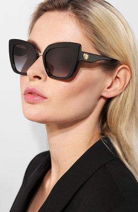 Мужские солнцезащитные очки DOLCE & GABBANA черного цвета, арт. 4359-501/8G | Фото 2