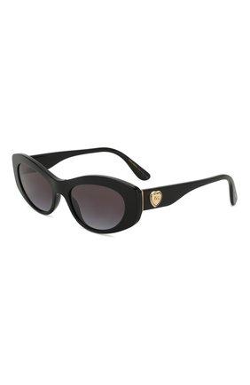Мужские солнцезащитные очки DOLCE & GABBANA черного цвета, арт. 4360-501/8G | Фото 1
