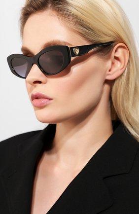 Мужские солнцезащитные очки DOLCE & GABBANA черного цвета, арт. 4360-501/8G | Фото 2