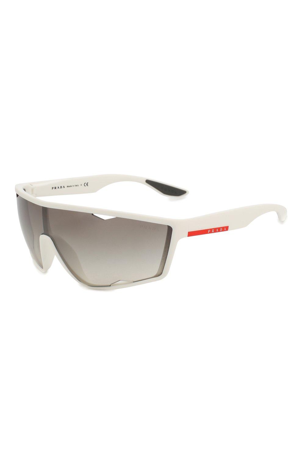 Женские солнцезащитные очки PRADA LINEA ROSSA белого цвета, арт. 09US-TWK500 | Фото 1