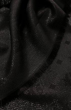 Женский платок из смеси шерсти и вискозы MCM черного цвета, арт. MEF 9SMM02   Фото 2