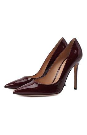 Женская кожаные туфли gianvito 105 GIANVITO ROSSI бордового цвета, арт. G28470.15RIC.VERR0YA | Фото 1