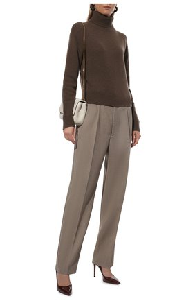 Женская кожаные туфли gianvito 105 GIANVITO ROSSI бордового цвета, арт. G28470.15RIC.VERR0YA | Фото 2