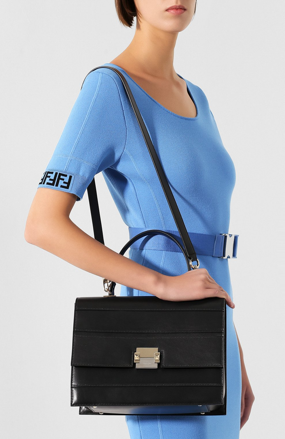 Женская сумка valentino garavani vcase medium VALENTINO черного цвета, арт. RW0B0D98/KKZ | Фото 5