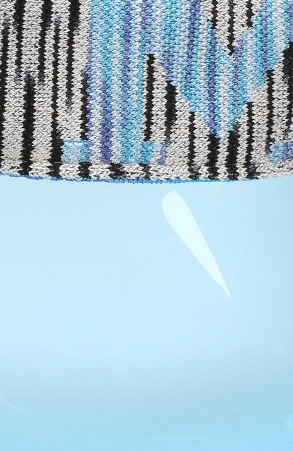 Солнцезащитный козырек Missoni голубого цвета | Фото №3