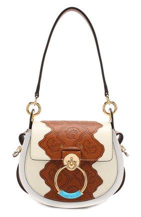 Женская сумка tess small CHLOÉ белого цвета, арт. CHC19US153B13 | Фото 1