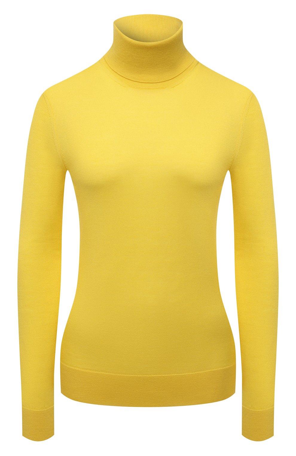 Женская кашемировая водолазка RALPH LAUREN желтого цвета, арт. 290615195 | Фото 1