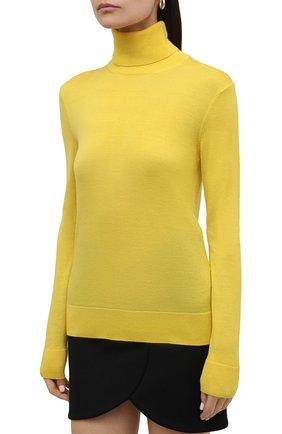 Женская кашемировая водолазка RALPH LAUREN желтого цвета, арт. 290615195 | Фото 3