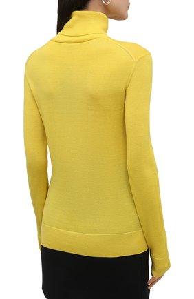 Женская кашемировая водолазка RALPH LAUREN желтого цвета, арт. 290615195 | Фото 4