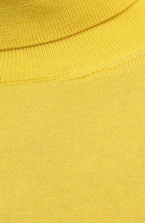 Женская кашемировая водолазка RALPH LAUREN желтого цвета, арт. 290615195 | Фото 5