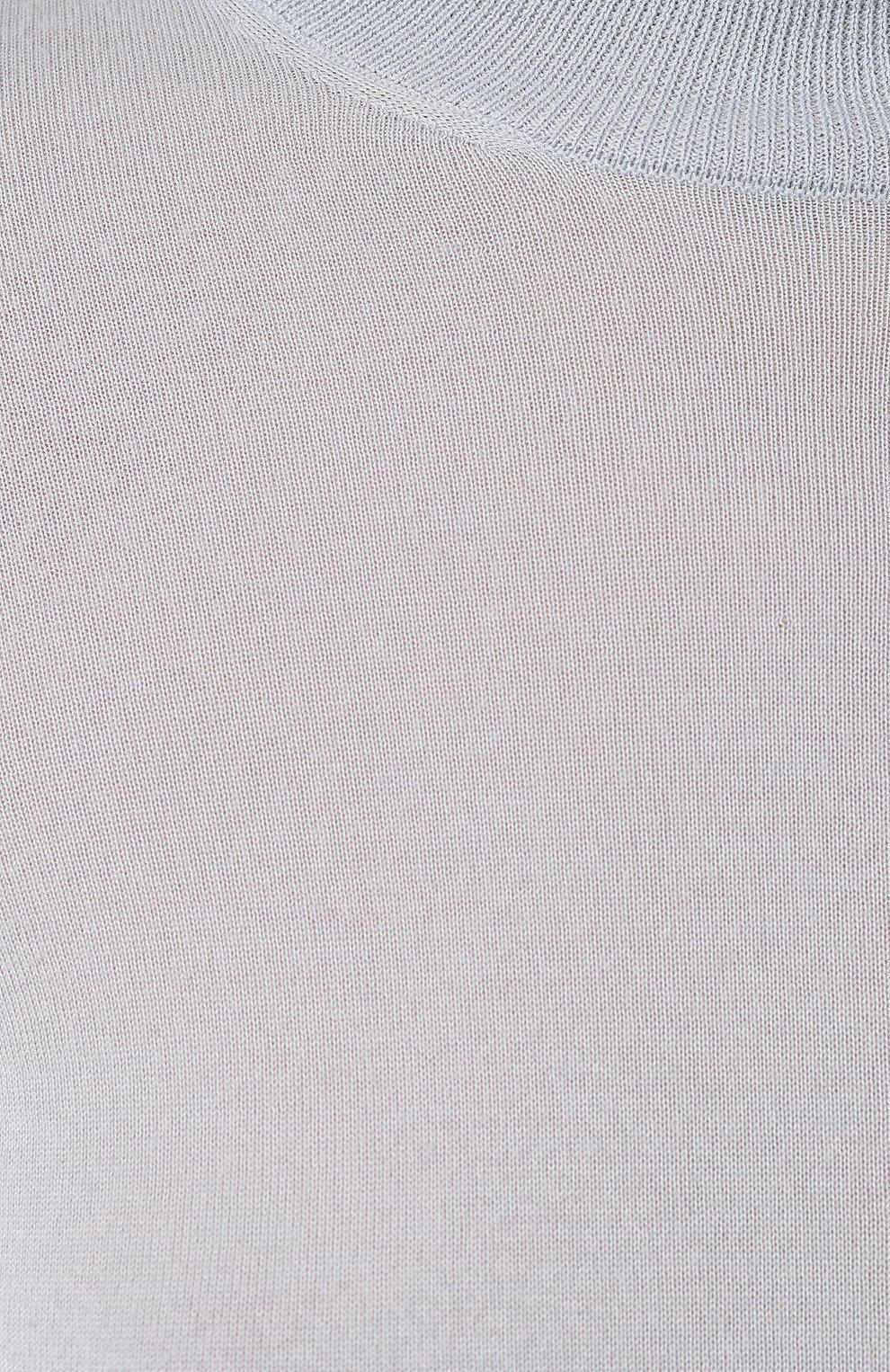 Женская кашемировая водолазка RALPH LAUREN голубого цвета, арт. 290615195 | Фото 5