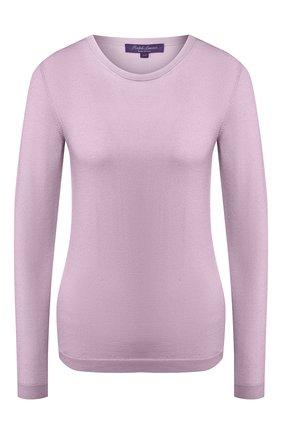 Женский кашемировый пуловер RALPH LAUREN лилового цвета, арт. 290615194 | Фото 1