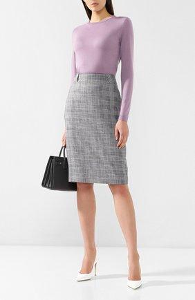 Женский кашемировый пуловер RALPH LAUREN лилового цвета, арт. 290615194 | Фото 2