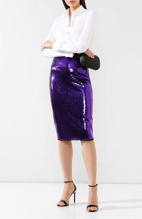 Женская юбка с пайетками TOM FORD фиолетового цвета, арт. GCJ252-FAE360 | Фото 2