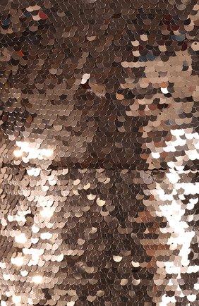 Платье с пайетками Saloni бронзовое | Фото №5