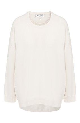 Женская кашемировый пуловер VALENTINO белого цвета, арт. SB3KC03V4Q8   Фото 1