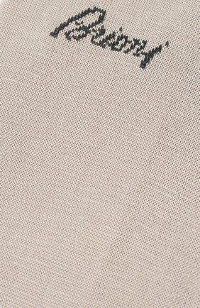 Мужские хлопковые носки BRIONI бежевого цвета, арт. 0VMC00/07Z07 | Фото 2 (Материал внешний: Хлопок; Кросс-КТ: бельё)