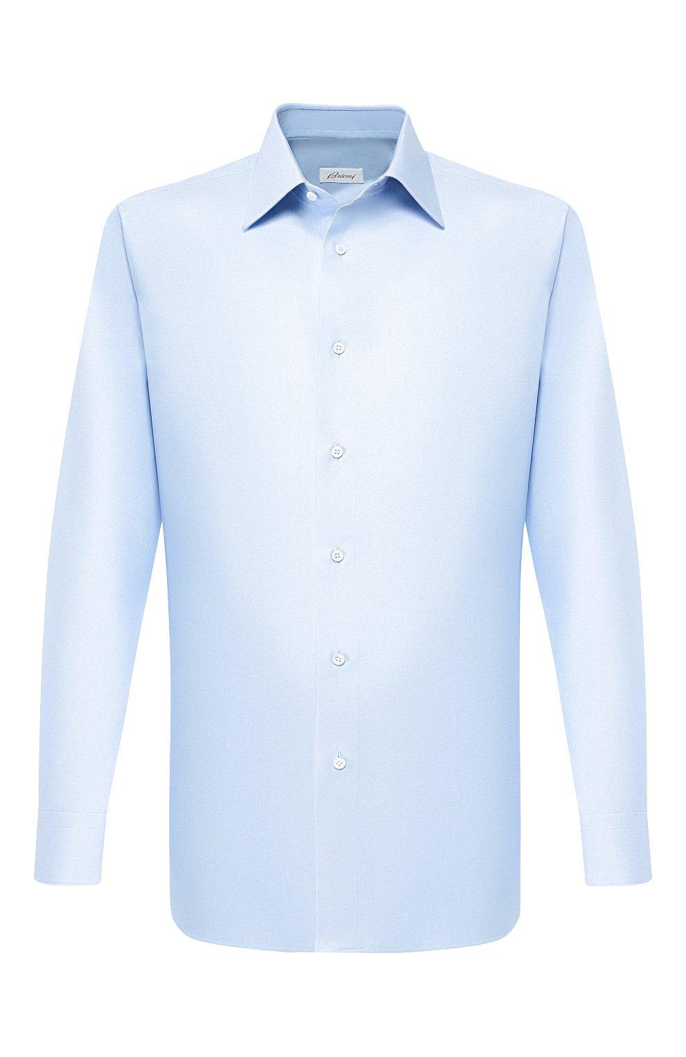 Мужская хлопковая сорочка BRIONI светло-голубого цвета, арт. RCLU1Z/PZ023 | Фото 1
