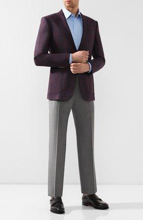 Мужская хлопковая сорочка BRIONI светло-голубого цвета, арт. RCLU1Z/PZ023 | Фото 2
