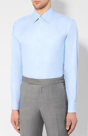 Мужская хлопковая сорочка BRIONI светло-голубого цвета, арт. RCLU1Z/PZ023 | Фото 3