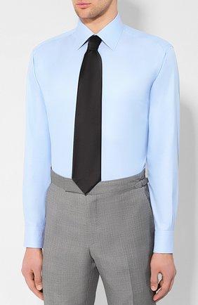 Мужская хлопковая сорочка BRIONI светло-голубого цвета, арт. RCLU1Z/PZ023 | Фото 4