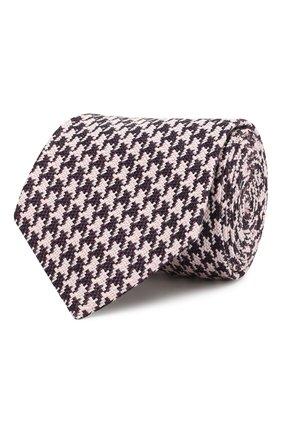 Мужской галстук из смеси шелка и хлопка TOM FORD розового цвета, арт. 5TF46/XTF | Фото 1