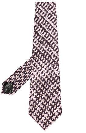 Мужской галстук из смеси шелка и хлопка TOM FORD розового цвета, арт. 5TF46/XTF | Фото 2