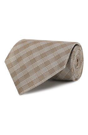 Мужской шелковый галстук TOM FORD бежевого цвета, арт. 5TF48/XTF | Фото 1