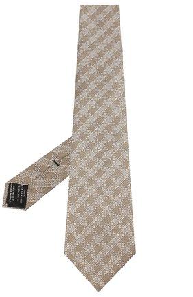 Мужской шелковый галстук TOM FORD бежевого цвета, арт. 5TF48/XTF | Фото 2