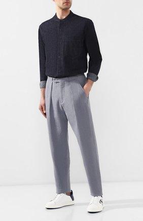 Мужская джинсовая рубашка GIORGIO ARMANI синего цвета, арт. 3GSC64/SDP7Z | Фото 2