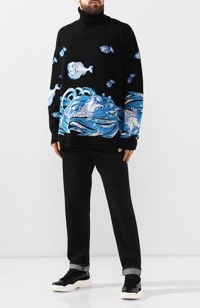 Мужские кожаные кроссовки gumboy VALENTINO черного цвета, арт. SY2S0B17/VRN | Фото 2 (Подошва: Массивная; Статус проверки: Проверено; Материал внутренний: Текстиль)