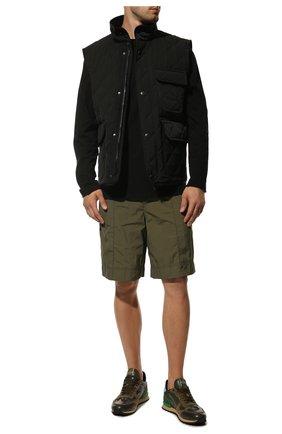 Мужские кожаные кроссовки valentino garavani rockrunner VALENTINO хаки цвета, арт. SY2S0723/TCC | Фото 2