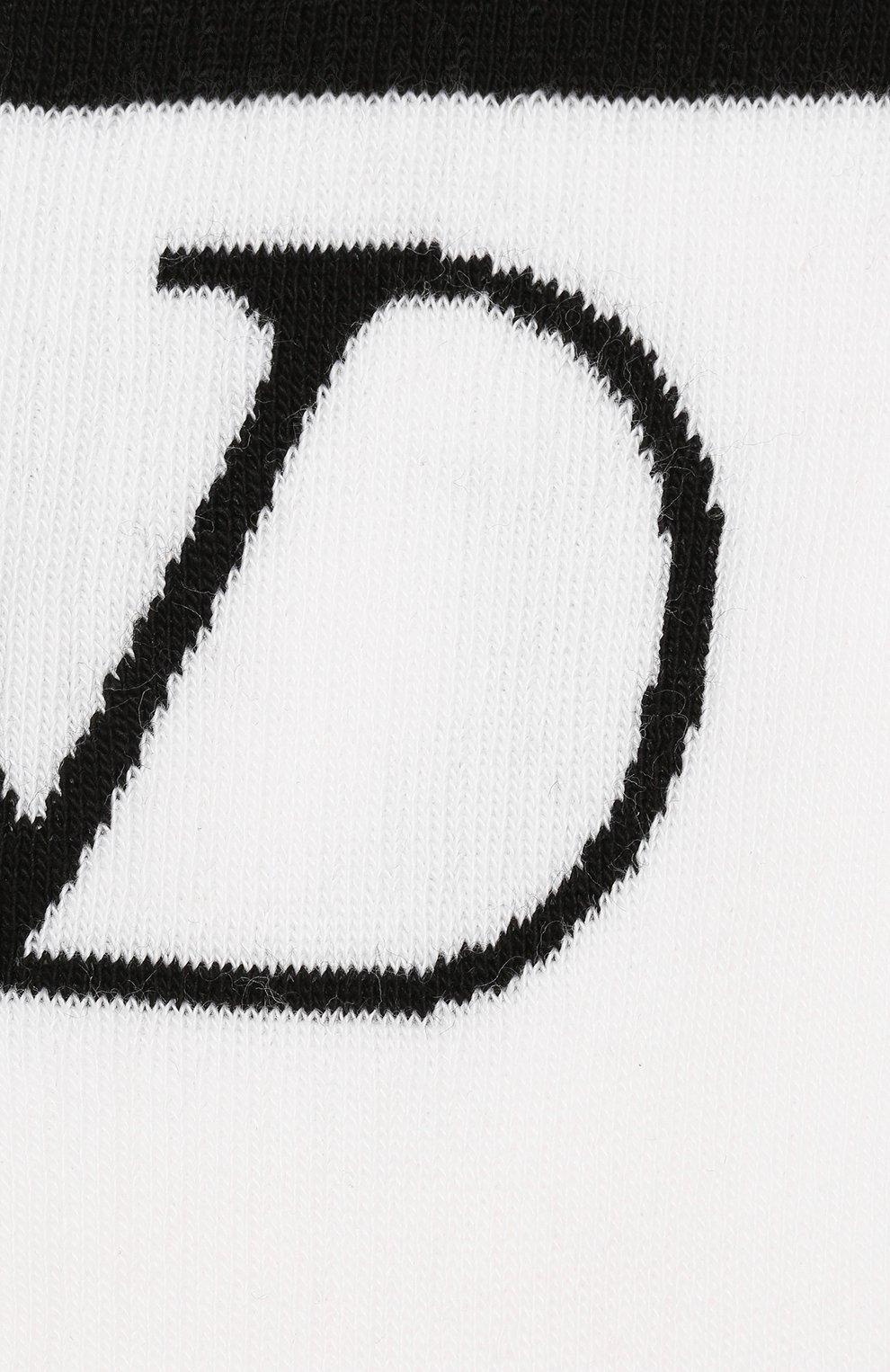 Мужские хлопковые носки VALENTINO черно-белого цвета, арт. SV3KI00N5H3 | Фото 2