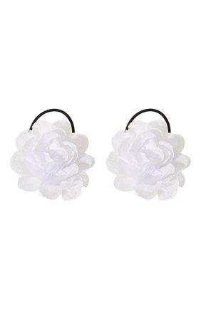 Детская комплект из двух резинок lace flower JUNEFEE белого цвета, арт. 5121 | Фото 1
