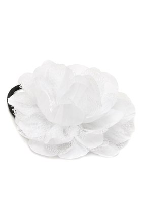 Детская комплект из двух резинок lace flower JUNEFEE белого цвета, арт. 5121 | Фото 2